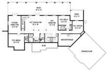 Craftsman Floor Plan - Lower Floor Plan Plan #119-426