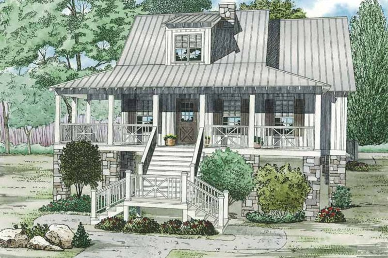Country Exterior - Front Elevation Plan #17-3287 - Houseplans.com