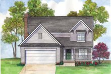 House Plan Design - Traditional Exterior - Front Elevation Plan #435-10