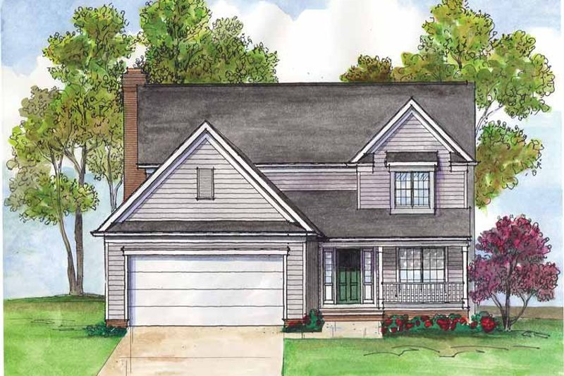 Traditional Exterior - Front Elevation Plan #435-10 - Houseplans.com