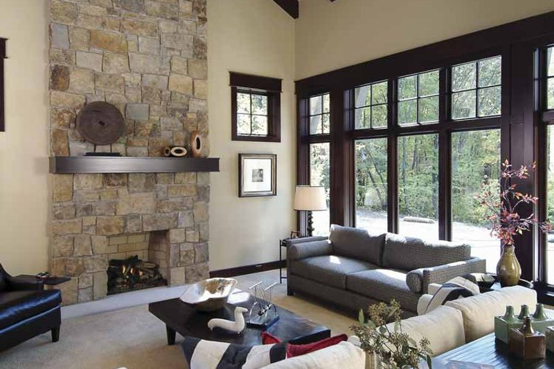 Country Interior - Family Room Plan #928-24 - Houseplans.com