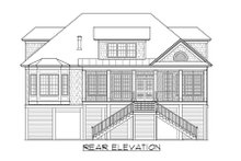 Beach Exterior - Rear Elevation Plan #1054-68