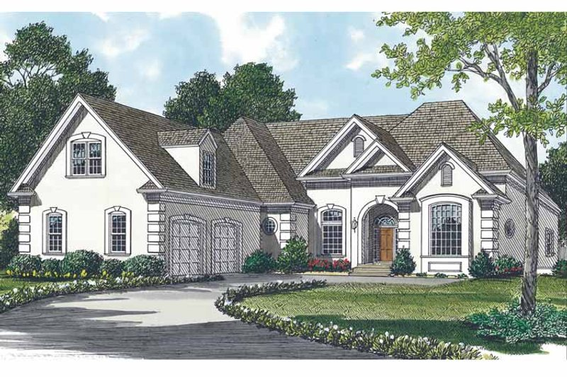 Traditional Exterior - Front Elevation Plan #453-477 - Houseplans.com
