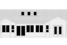 Ranch Exterior - Rear Elevation Plan #943-42