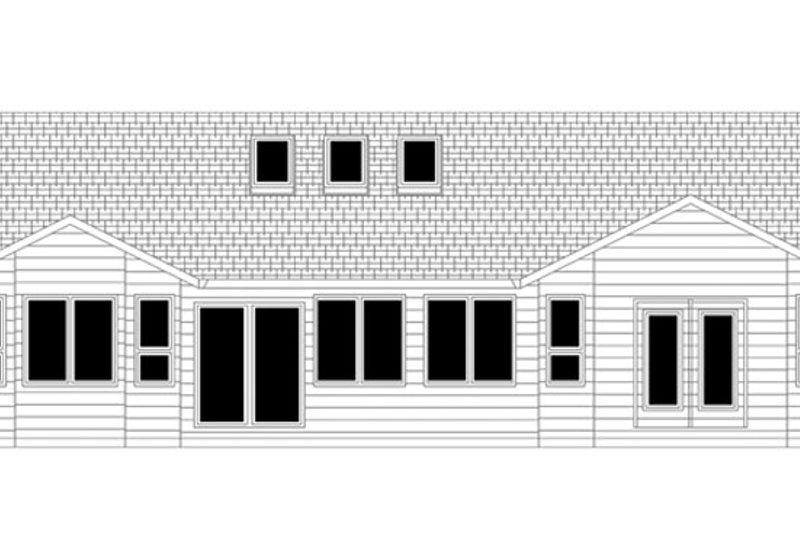 Ranch Exterior - Rear Elevation Plan #943-42 - Houseplans.com