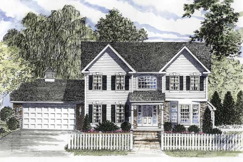 Home Plan - Colonial Exterior - Front Elevation Plan #316-212