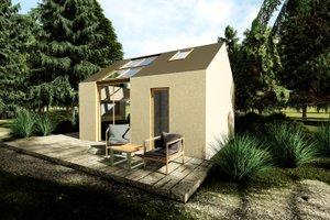 Modern Exterior - Front Elevation Plan #549-33