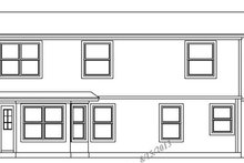 Exterior - Rear Elevation Plan #472-71