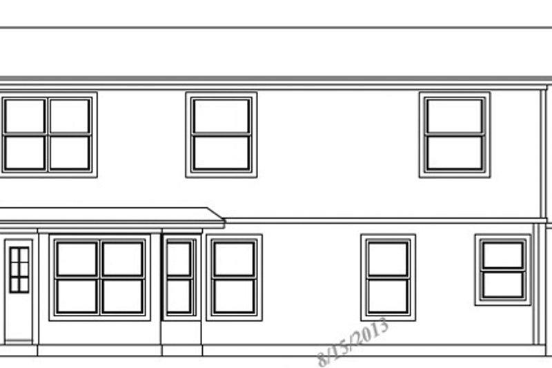 Exterior - Rear Elevation Plan #472-71 - Houseplans.com