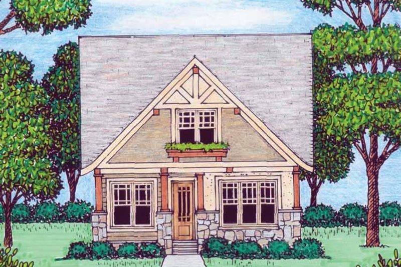 Tudor Exterior - Front Elevation Plan #413-907 - Houseplans.com