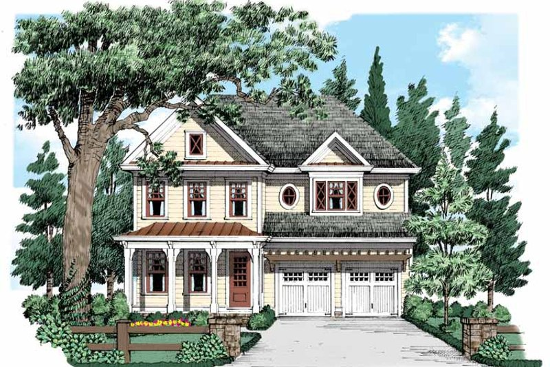 Country Exterior - Front Elevation Plan #927-535