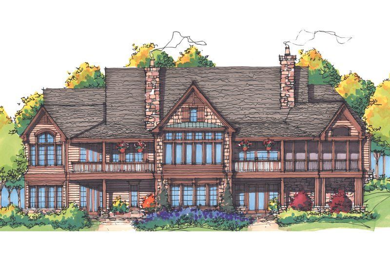 European Exterior - Rear Elevation Plan #929-894 - Houseplans.com