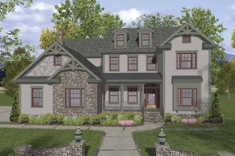Traditional Exterior - Front Elevation Plan #56-679 - Houseplans.com