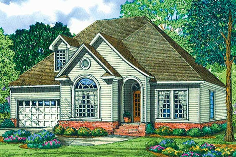 Country Exterior - Front Elevation Plan #17-3140 - Houseplans.com