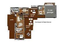 Contemporary Floor Plan - Main Floor Plan Plan #484-12