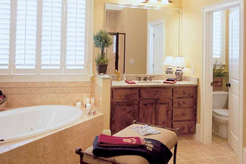 Country Interior - Master Bathroom Plan #927-855 - Houseplans.com