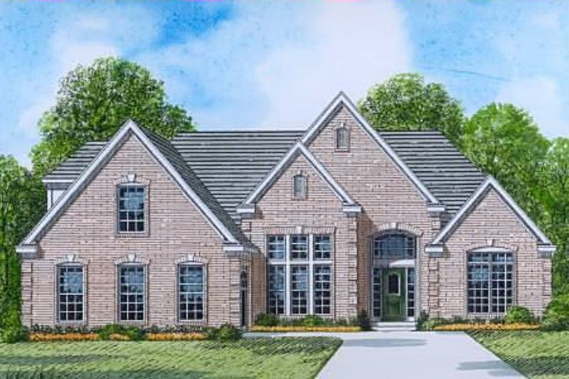 Traditional Style House Plan - 3 Beds 2 Baths 2097 Sq/Ft Plan #424-11 Exterior - Front Elevation