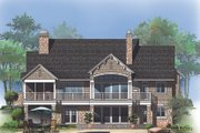 European Style House Plan - 4 Beds 4 Baths 3007 Sq/Ft Plan #929-1015 Exterior - Rear Elevation