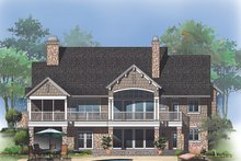 House Plan Design - European Exterior - Rear Elevation Plan #929-1015