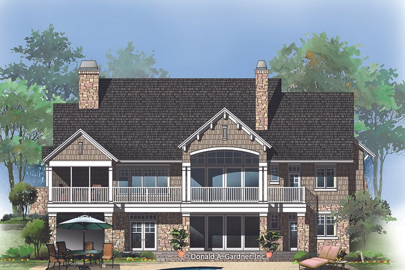 European Exterior - Rear Elevation Plan #929-1015 - Houseplans.com