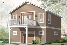 Home Plan - Country Exterior - Rear Elevation Plan #23-2461