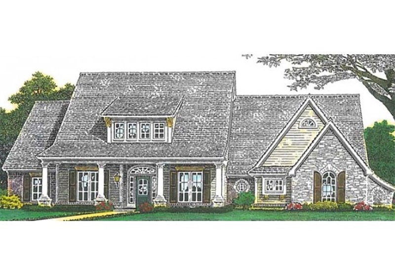 European Exterior - Front Elevation Plan #310-993