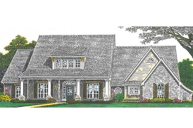 European Exterior - Front Elevation Plan #310-993 - Houseplans.com