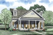 Traditional Style House Plan - 2 Beds 2 Baths 1721 Sq/Ft Plan #17-2422 Exterior - Front Elevation