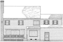 Architectural House Design - Colonial Exterior - Rear Elevation Plan #137-183