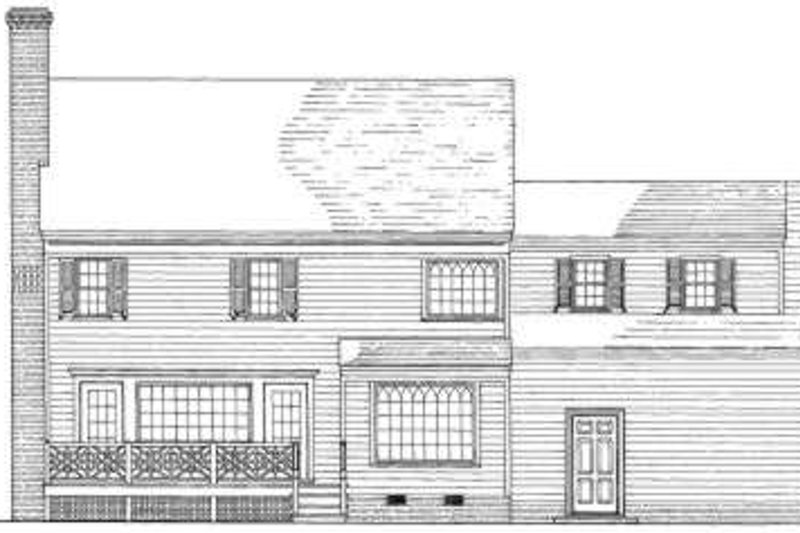Colonial Exterior - Rear Elevation Plan #137-183 - Houseplans.com