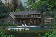 Craftsman Exterior - Rear Elevation Plan #120-186