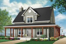 Home Plan - Traditional Exterior - Front Elevation Plan #23-822