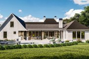 Traditional Style House Plan - 4 Beds 3 Baths 3507 Sq/Ft Plan #406-9664 Exterior - Rear Elevation
