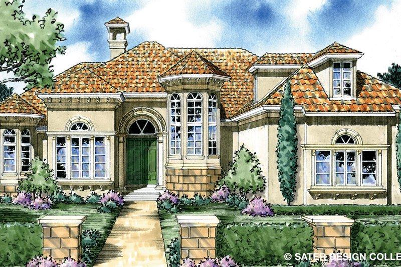 House Plan Design - Mediterranean Exterior - Front Elevation Plan #930-297