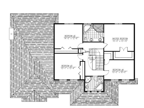 European Floor Plan - Upper Floor Plan Plan #138-338
