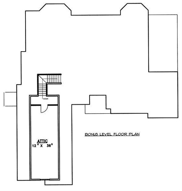 Traditional Floor Plan - Upper Floor Plan Plan #117-545