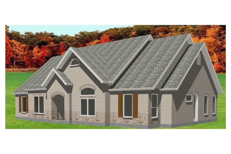 European Style House Plan - 3 Beds 3 Baths 2326 Sq/Ft Plan #408-103 Exterior - Front Elevation