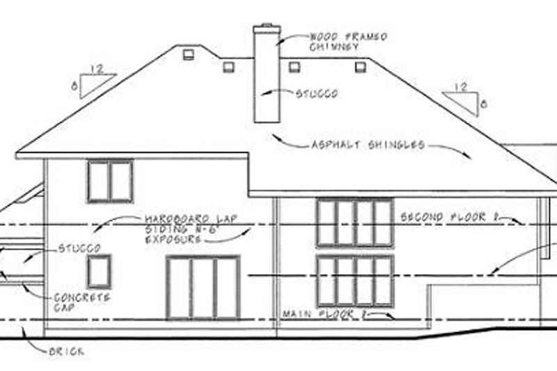 Prairie Exterior - Rear Elevation Plan #20-217 - Houseplans.com