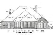 European Style House Plan - 4 Beds 3 Baths 2137 Sq/Ft Plan #310-412 Exterior - Rear Elevation