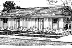 Ranch Exterior - Front Elevation Plan #303-144
