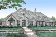 European Style House Plan - 4 Beds 3 Baths 2941 Sq/Ft Plan #310-552