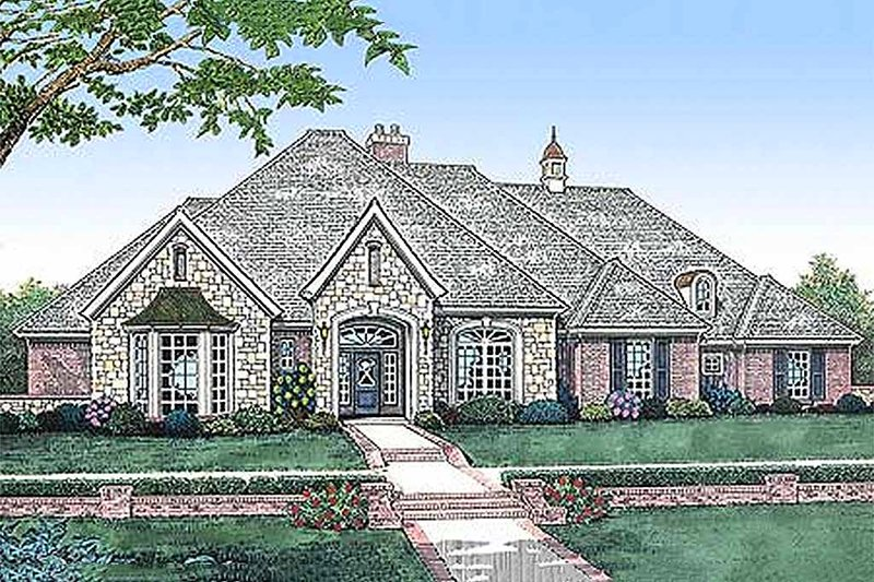 Architectural House Design - European style home, elevation