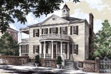 Home Plan - Classical Exterior - Other Elevation Plan #137-222