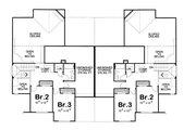 European Style House Plan - 3 Beds 3 Baths 4102 Sq/Ft Plan #20-1277 Floor Plan - Upper Floor