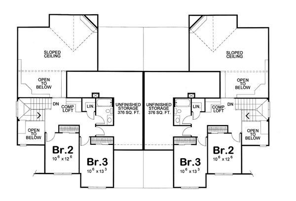 European Floor Plan - Upper Floor Plan #20-1277