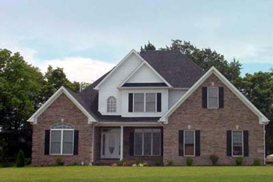 Southern Exterior - Front Elevation Plan #412-126