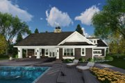Craftsman Style House Plan - 3 Beds 2.5 Baths 2500 Sq/Ft Plan #51-586 Exterior - Rear Elevation