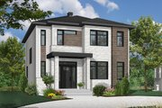 Contemporary Style House Plan - 3 Beds 2 Baths 1730 Sq/Ft Plan #23-2307 Exterior - Front Elevation