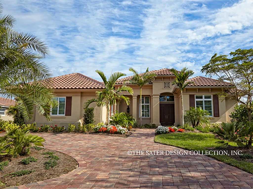 The Sater Design Collection mediterranean style house plan - 3 beds 4.5 baths 3394 sq/ft plan #930-457