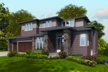 Home Plan - Contemporary Exterior - Front Elevation Plan #48-254